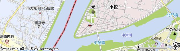 大分県中津市小祝64周辺の地図