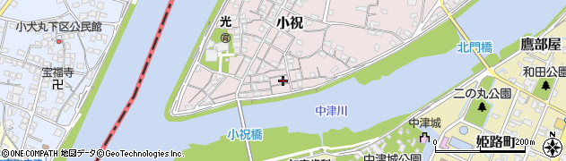 大分県中津市小祝109周辺の地図