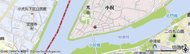 大分県中津市小祝89周辺の地図