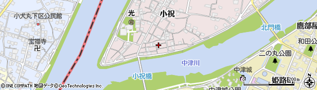 大分県中津市小祝111周辺の地図
