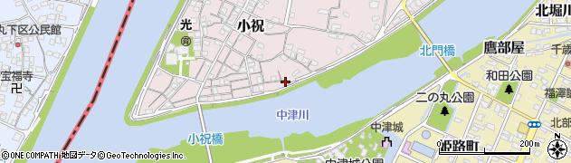 大分県中津市小祝135周辺の地図
