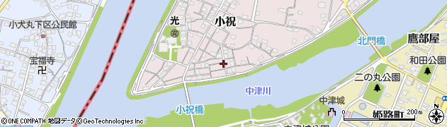 大分県中津市小祝107周辺の地図