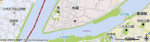 大分県中津市小祝106周辺の地図