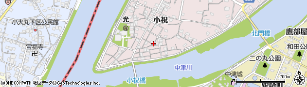 大分県中津市小祝158周辺の地図