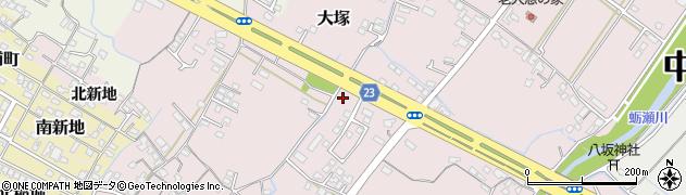 大分県中津市大塚428周辺の地図