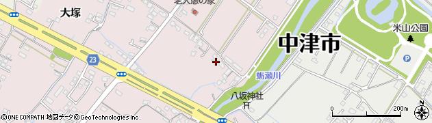 大分県中津市大塚595周辺の地図