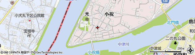 大分県中津市小祝170周辺の地図