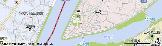 大分県中津市小祝本町周辺の地図