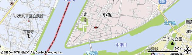 大分県中津市小祝173周辺の地図