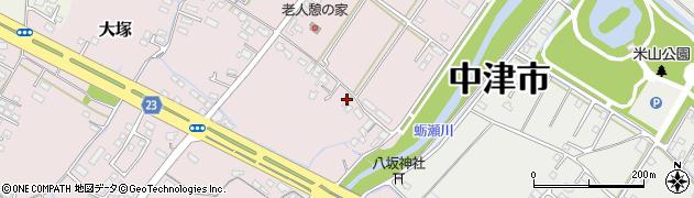 大分県中津市大塚596周辺の地図