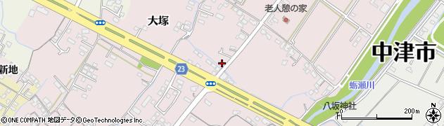 大分県中津市大塚356周辺の地図