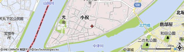 大分県中津市小祝167周辺の地図