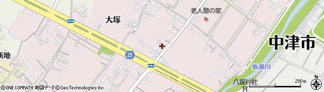 大分県中津市大塚357周辺の地図