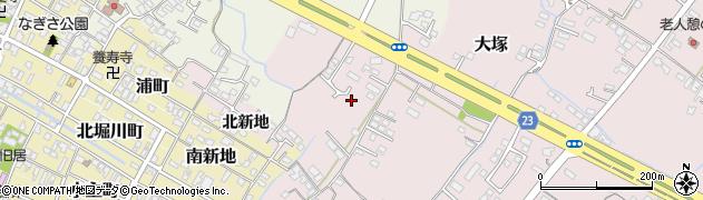 大分県中津市大塚208周辺の地図