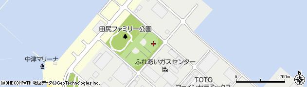 大分県中津市田尻崎周辺の地図