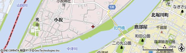 大分県中津市小祝346周辺の地図