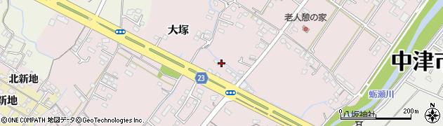 大分県中津市大塚347周辺の地図