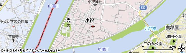 大分県中津市小祝325周辺の地図