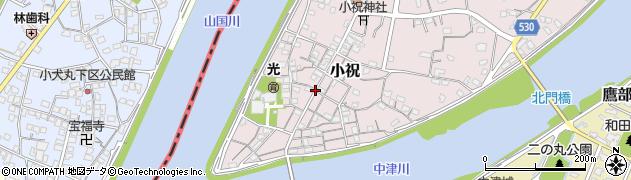 大分県中津市小祝186周辺の地図