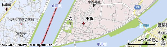 大分県中津市小祝183周辺の地図