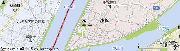 大分県中津市小祝216周辺の地図