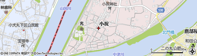 大分県中津市小祝181周辺の地図