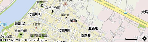 大分県中津市浦町周辺の地図