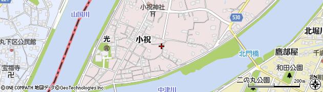 大分県中津市小祝330周辺の地図