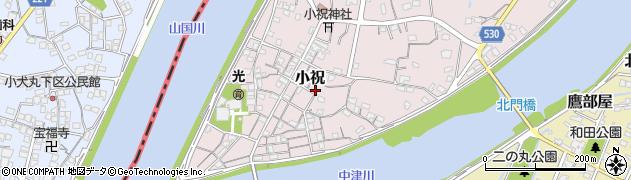 大分県中津市小祝324周辺の地図