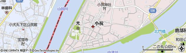 大分県中津市小祝182周辺の地図