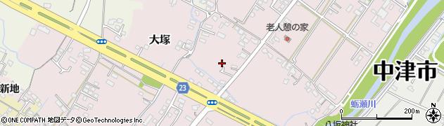 大分県中津市大塚358周辺の地図