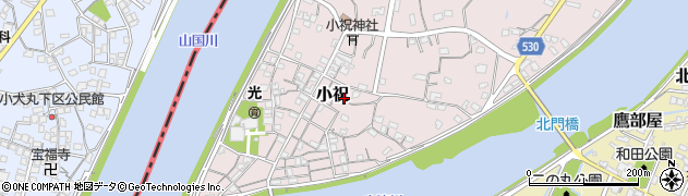 大分県中津市小祝504周辺の地図