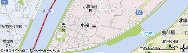 大分県中津市小祝501周辺の地図