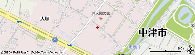 大分県中津市大塚602周辺の地図