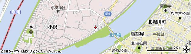 大分県中津市小祝364周辺の地図