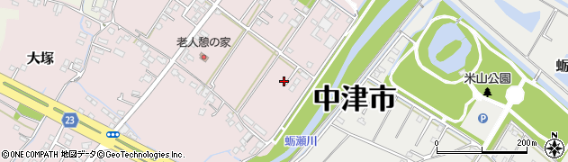 大分県中津市大塚663周辺の地図