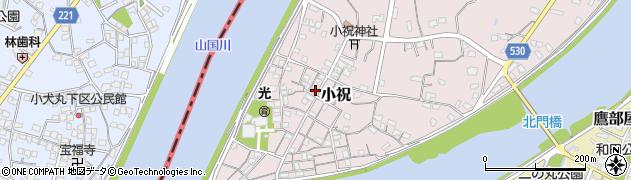 大分県中津市小祝229周辺の地図