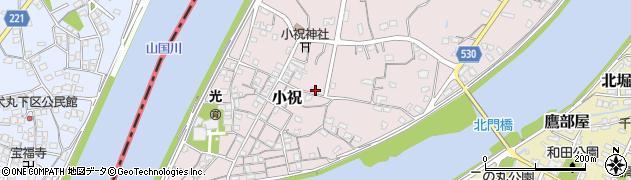 大分県中津市小祝499周辺の地図