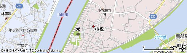 大分県中津市小祝230周辺の地図