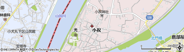 大分県中津市小祝233周辺の地図