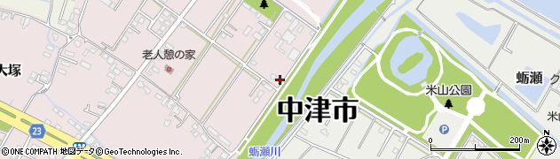 大分県中津市大塚664周辺の地図