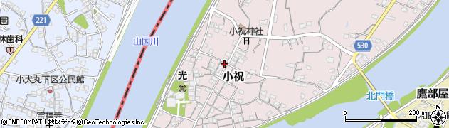 大分県中津市小祝223周辺の地図