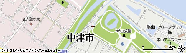 大分県中津市蛎瀬1349周辺の地図