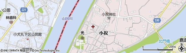 大分県中津市小祝243周辺の地図