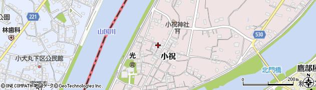 大分県中津市小祝235周辺の地図