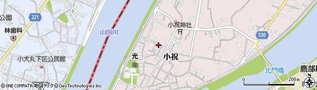 大分県中津市小祝236周辺の地図