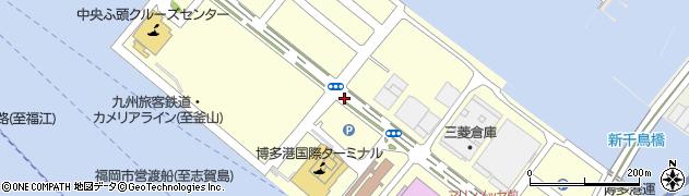福岡県福岡市博多区沖浜町周辺の地図