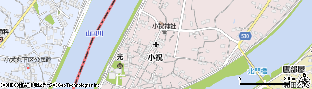 大分県中津市小祝306周辺の地図