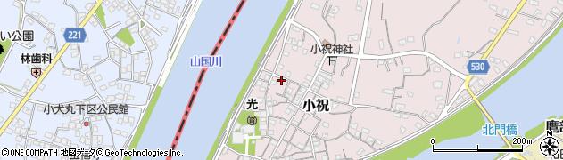 大分県中津市小祝241周辺の地図