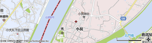 大分県中津市小祝300周辺の地図
